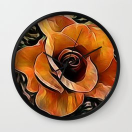 Amber Rose Wall Clock