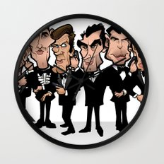 Faces of Bond Wall Clock