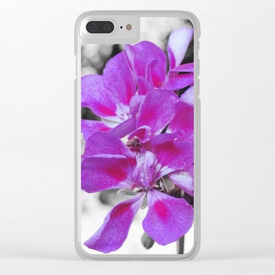 fuchsia flOWERS Clear iPhone Case