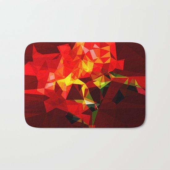 red polygone object Bath Mat