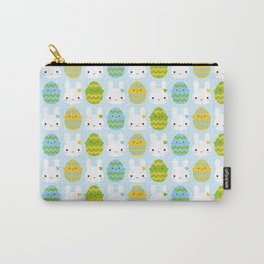 Kawaii Easter Bunny & Eggs Carry-All Pouch
