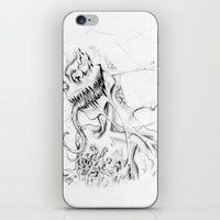 carnage iPhone & iPod Skins featuring Carnage by Angie Dilaj