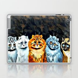 "Louis Wain's Cats ""Five Cats"" Laptop & iPad Skin"