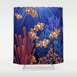 Clown Fish tank Shower Curtain