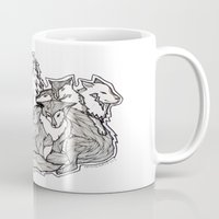 wolves Mugs featuring Wolves by Freja Friborg
