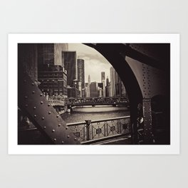 Up The Chicago River Art Print