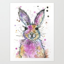 {Henry} the Bunny Portrait Art Print
