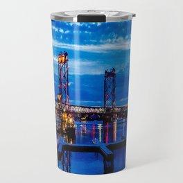 Night Bridge Lights Travel Mug