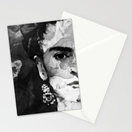 Black And White Frida Kahlo by Sharon Cummings Stationery Cards