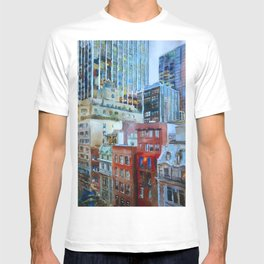 The view from the windows of the MoMA T-shirt