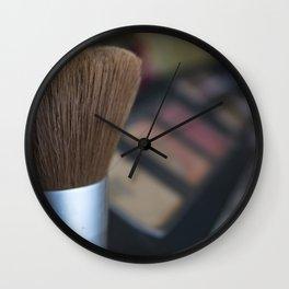 make up brush Wall Clock