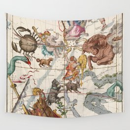 Vintage Constellation Map - Star Atlas Wall Tapestry