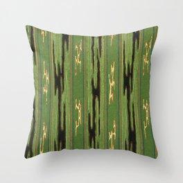 Vintage woodblock print of Japanese textile from Shima-Shima (1904) by Furuya Korin 150 Throw Pillow