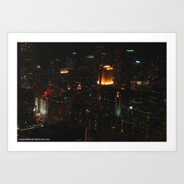 Chicago Skyline Light Show (Chicago Architecture Collection) Art Print