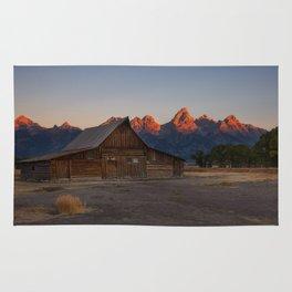 Moulton Barn - Sunrise in Grand Tetons Rug