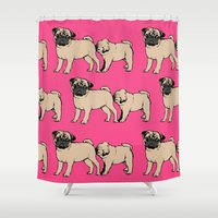smiths Shower Curtains featuring FOLLOW by Huebucket