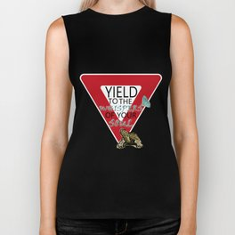 Yield to the whispers of your soul Biker Tank