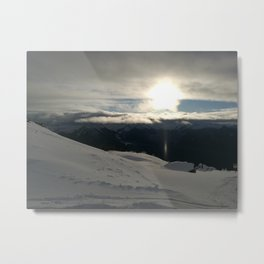 On the mountains, me and the sun, between the clouds Metal Print