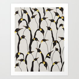 Penguin Patch Art Print