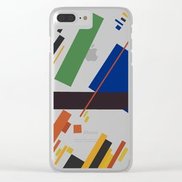 Geometric Abstract Malevic #14 Clear iPhone Case