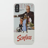 scarface iPhone & iPod Cases featuring Cheney Scarface by vipez