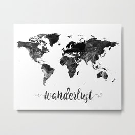 Wanderlust World Map Metal Print