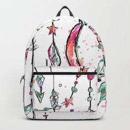 Bohemian Pink and Aqua Backpack