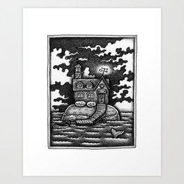 House Island Art Print