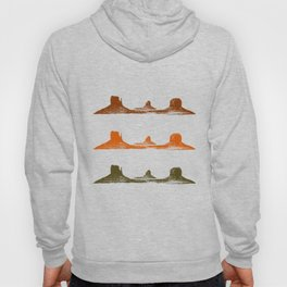 Monument Valley, 3 mountains, 3 colors Hoody