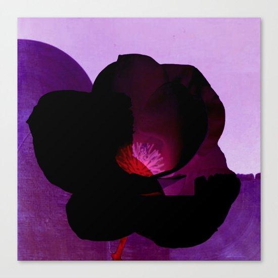 fleur noire Canvas Print