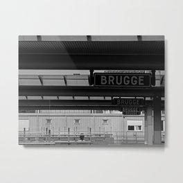 Endless Brugge - Train station in Belgium - Fine Art Travel Photography Metal Print