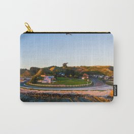 kaikoura warf sunrise mountains colors new zealand bird Carry-All Pouch