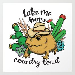 Country Toad Art Print