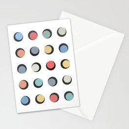 Geometric Round Stationery Cards