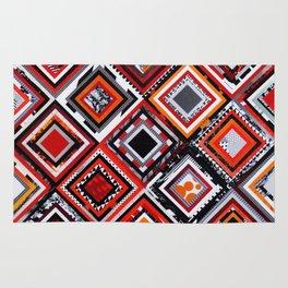 Test Pattern Orange Rug