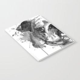 Black And White Half Faced English Bulldog Notebook