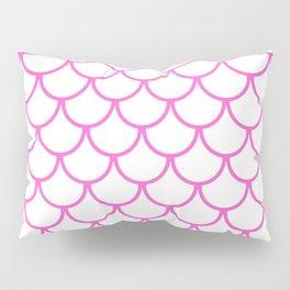 Pink Fish Scales Pattern Pillow Sham
