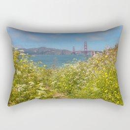 Wildflowers at Bay Rectangular Pillow