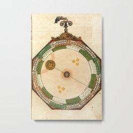 Peter Apian - Astronomicum Caesareum 1540 - Plate 9 The Course of the Sun Metal Print