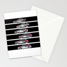 Lancia Martini Rally Cars Stationery Cards