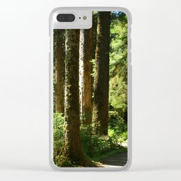 Walkway in Hoh Rainforest Clear iPhone Case
