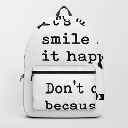 Don't cry... Dr. Seuss Backpack