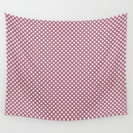Rose Wine and White Polka Dots Wall Tapestry