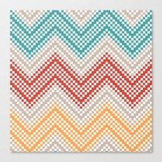 C13 pattern series - pixel chevron Canvas Print