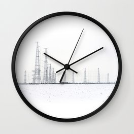 towers and wires Wall Clock
