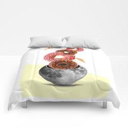 Donut worry (be happy) Comforters