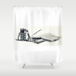 Write Shower Curtain