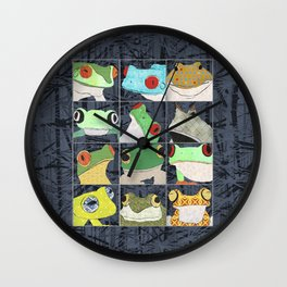 Frogs vertical Wall Clock