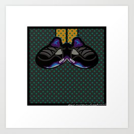 AIR JORDAN 5 BLACK Art Print
