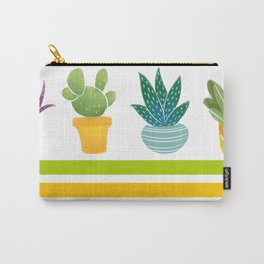 Abstract Botanic Plants Carry-All Pouch